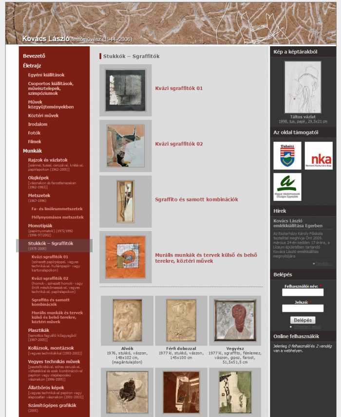 Stukkók - Sgraffitók kategória oldal