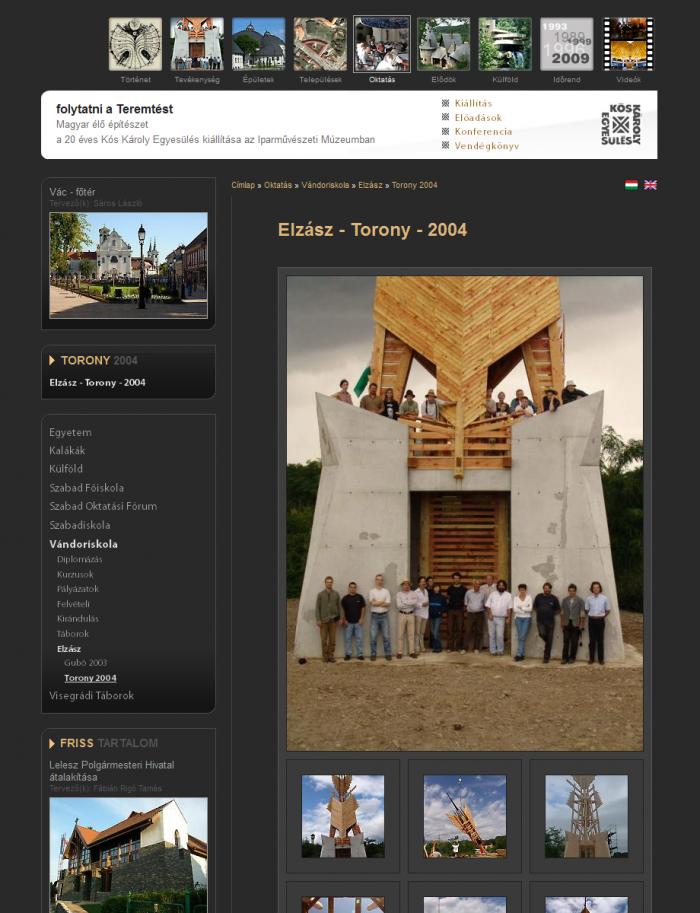 Vándoriskola - Elzász - Torony - 2004