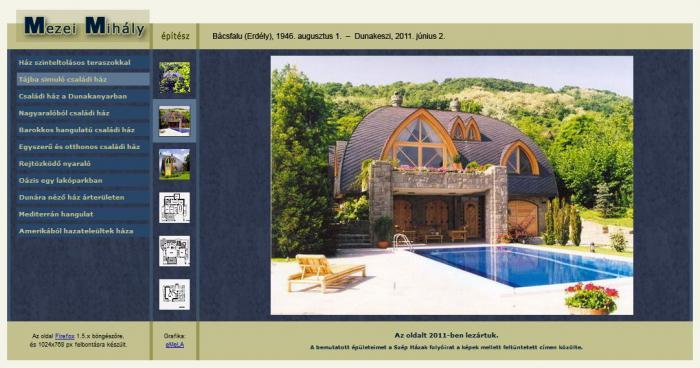 Mezei Mihály építész (1946-2011) honlapja