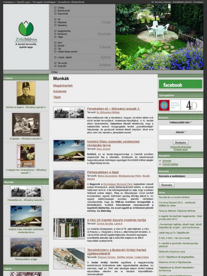 ZöldMűves - Munkák listaoldal