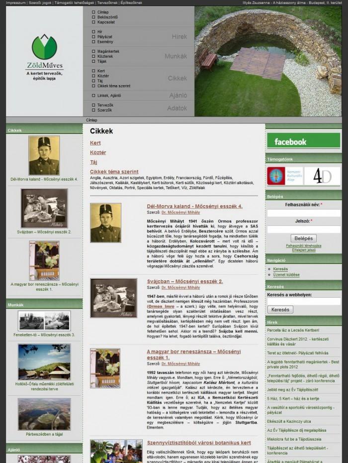 ZöldMűves - Cikkek listaoldal