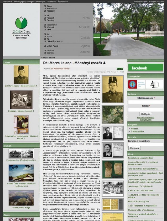 ZöldMűves - Cikk oldal