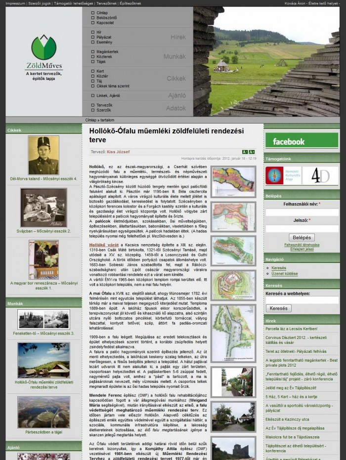 ZöldMűves - Munka oldal