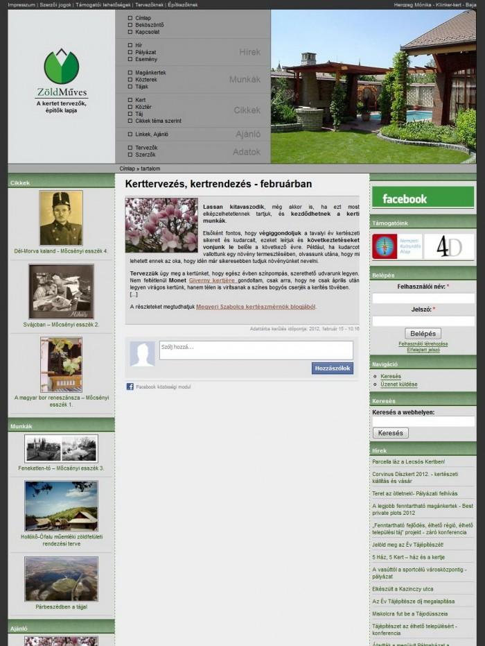 ZöldMűves - Ajánló oldal
